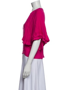 Iro V-Neck Short Sleeve Blouse