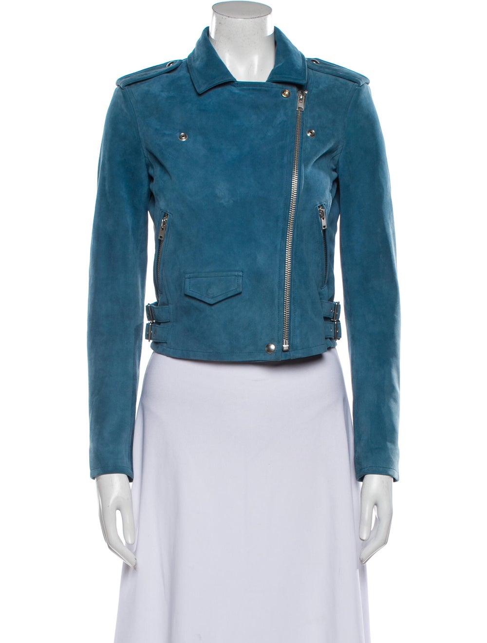 Iro Biker Jacket Blue - image 4