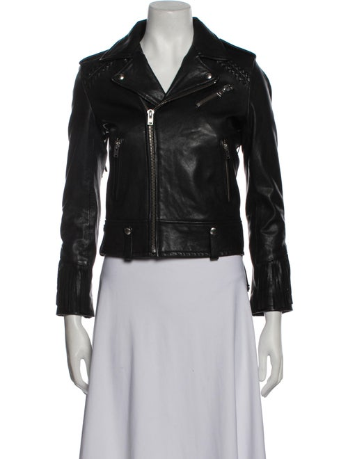 Iro Lamb Leather Biker Jacket Black
