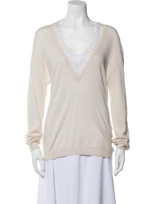 Iro Plunge Neckline Sweater