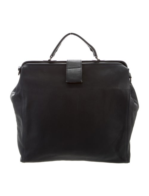 Isaac Reina Leather Satchel Bag Blue