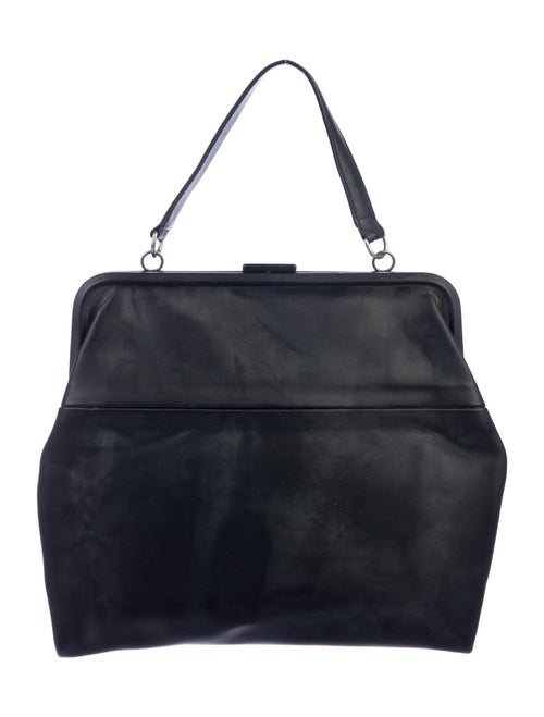 Isaac Reina Leather Radical Satchel Black