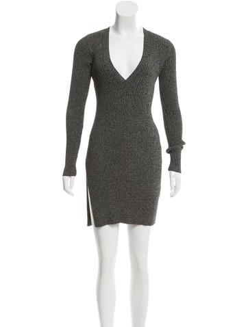 Intermix V-Neck Sweater Dress None