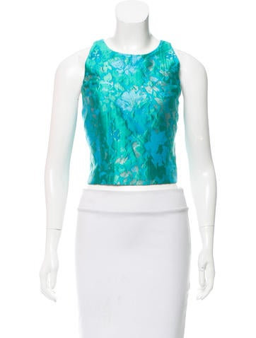 Intermix Jacquard Cropped Top w/ Tags None