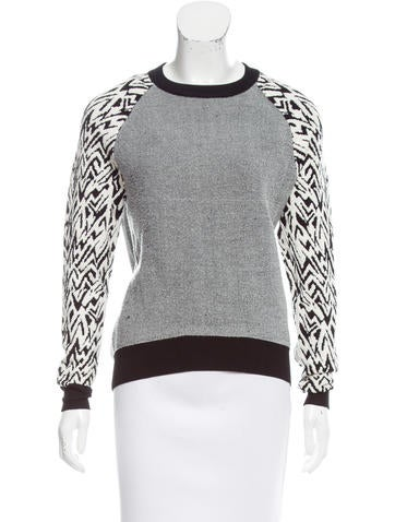 Intermix Patterned Raglan Sweater None