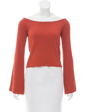 Intermix Rib Knit Bell Sleeve Top w/ Tags None