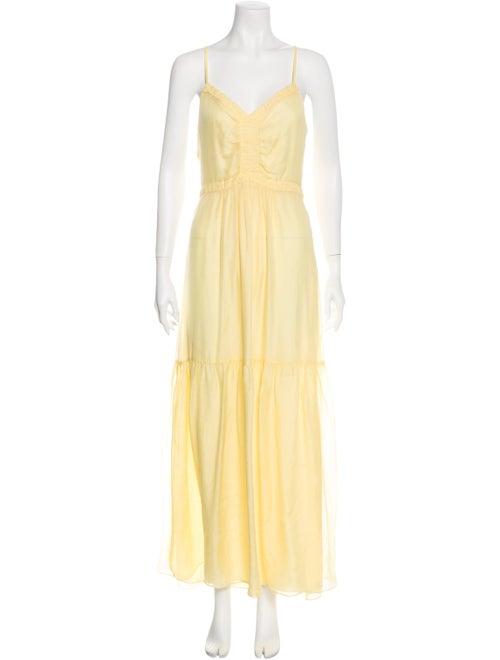 Intermix Silk Long Dress Yellow