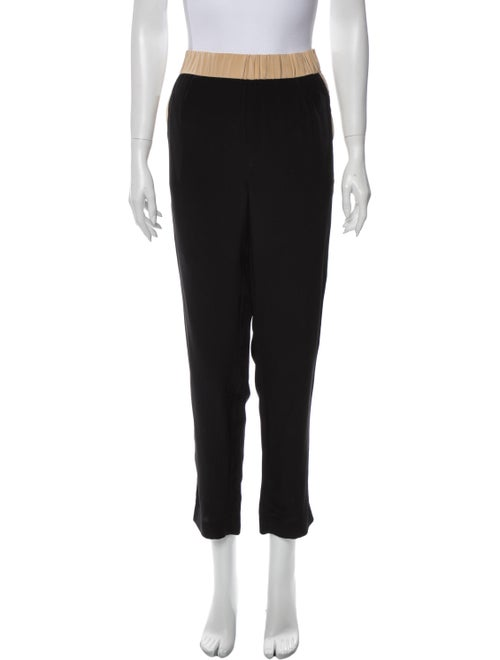 Intermix Silk Straight Leg Pants Black