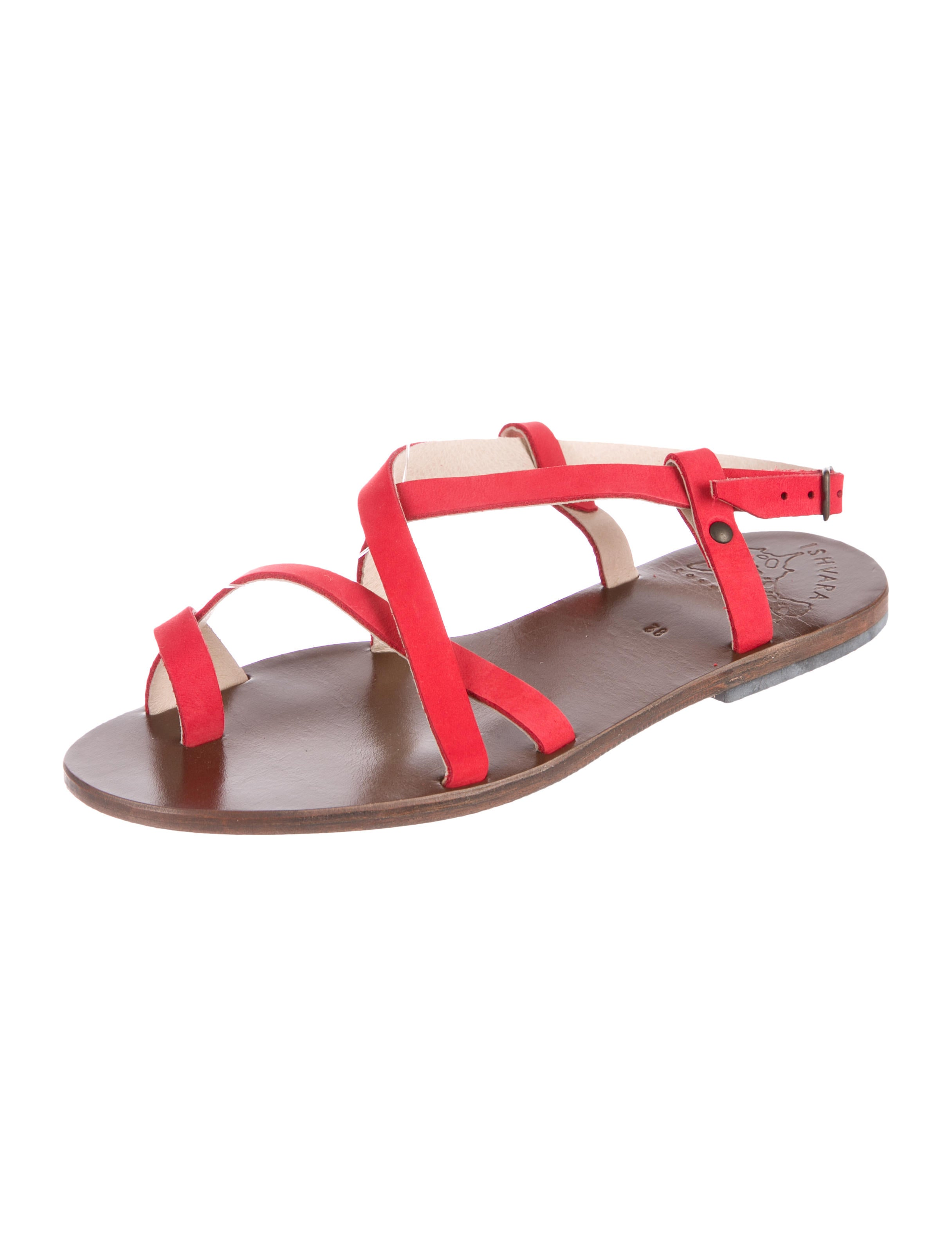 Isharya Ibiza Suede Sandals shipping discount authentic hot sale cheap online free shipping low cost clearance deals WEl95WByL