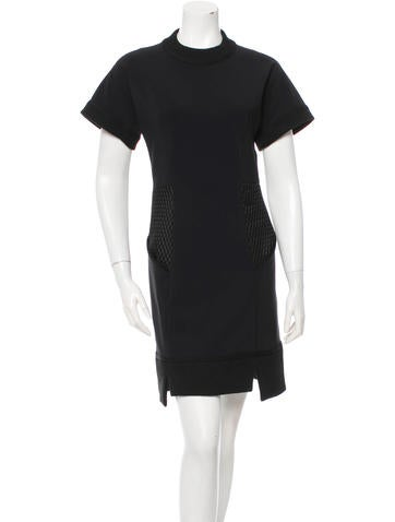 Jonathan Simkhai Mesh Paneled Short Sleeve Dress None