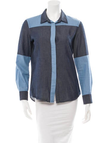 Jonathan Simkhai Colorblock Button-Up Top None