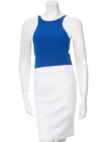 Jonathan Simkhai Rib Knit Crop Top None