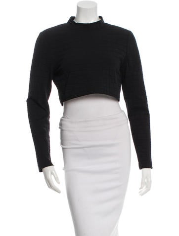 Jonathan Simkhai Textured Crop Top None