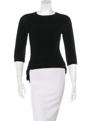 Jonathan Simkhai Asymmetrical Knit Top None
