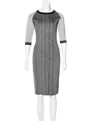 Jonathan Simkhai Patterned Bodycon Dress None
