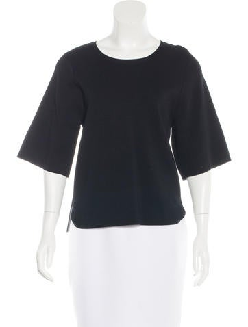 Jonathan Simkhai Short Sleeve Boxy Top None