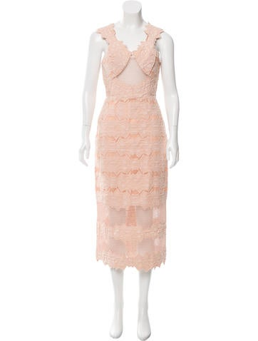 Jonathan Simkhai Jacuard Mesh-Trimmed Dress w/ Tags
