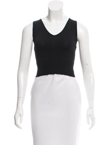 Jonathan Simkhai Sleeveless Crop Top None