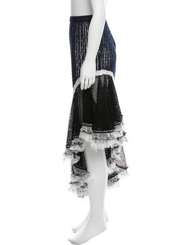 Open Knit Embroidered Skirt w/ Tags
