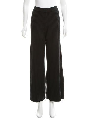 Jonathan Simkhai Rib Knit Wide-Leg Pants w/ Tags None