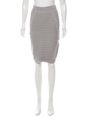 Jonathan Simkhai Textured Bodycon Skirt None