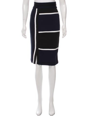 Jonathan Simkhai Colorblock Bodycon Skirt None