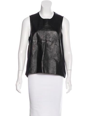 Jonathan Simkhai Leather-Paneled Sleeveless Top None