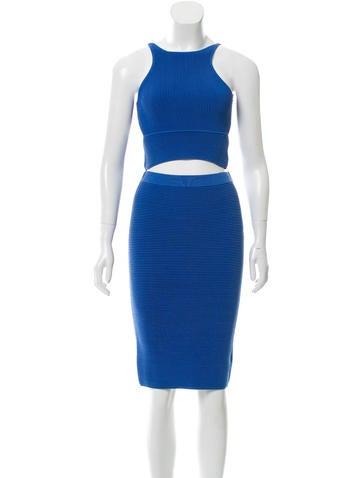 Jonathan Simkhai Rib Knit Cutout Skirt Set None