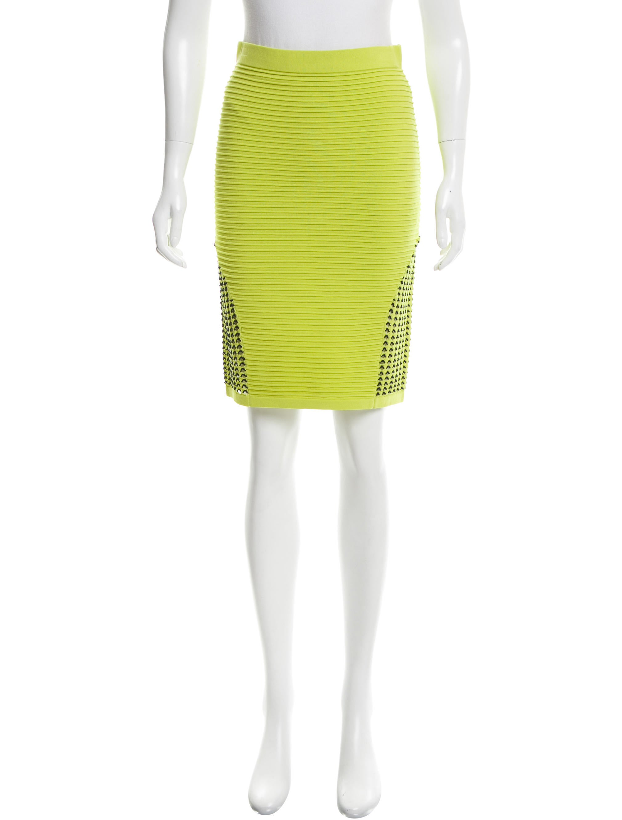 jonathan simkhai knee length bodycon skirt clothing
