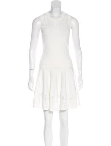Jonathan Simkhai Knit Eyelet Skirt Set None