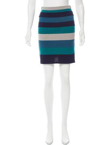 Jonathan Simkhai Striped Mini Skirt None