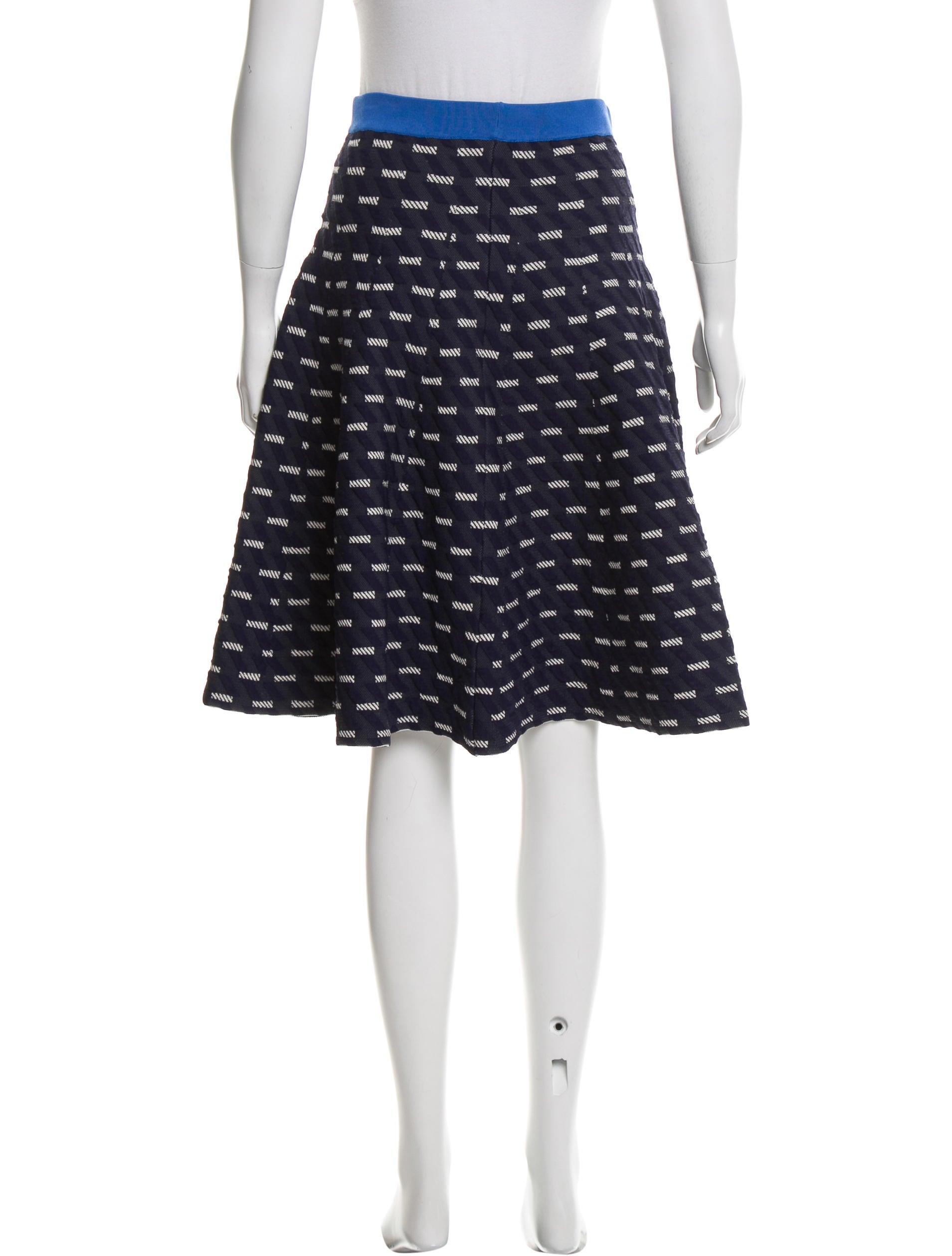jonathan simkhai patterned a line skirt clothing