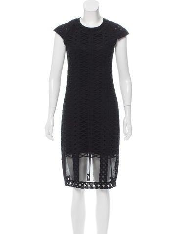 Jonathan Simkhai Short Sleeve Midi Dress None