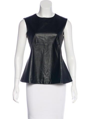 Jonathan Simkhai Leather-Accented Sleeveless Top None