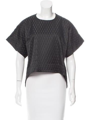 Jonathan Simkhai Textured Short Sleeve Top None