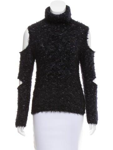 Jonathan Simkhai Fringe Cutout Sweater None