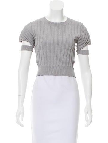 Jonathan Simkhai Cutout Short Sleeve Top None