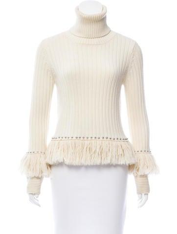 Jonathan Simkhai Wool Embellished Sweater None
