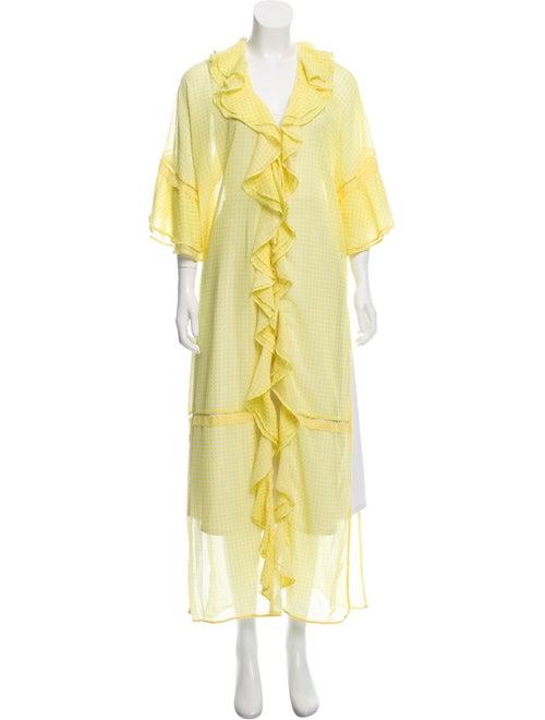 Jonathan Simkhai Printed Robe Yellow