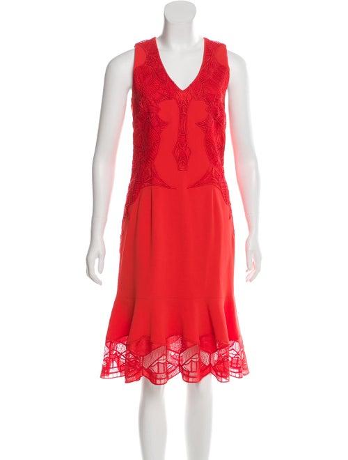 Jonathan Simkhai Flared Midi Dress Red
