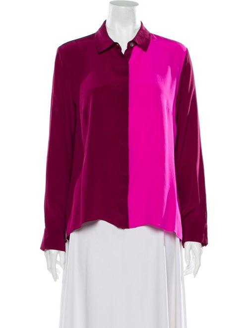 Jonathan Simkhai Silk Long Sleeve Blouse Pink