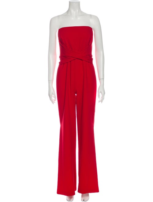 Jonathan Simkhai Strapless Jumpsuit Red