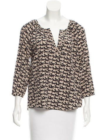 Joie Printed Silk Top w/ Tags None