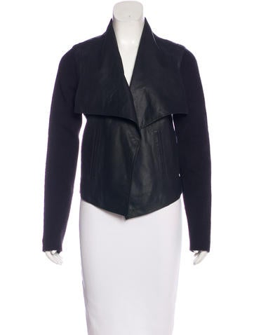 Joie Leather Draped Jacket None