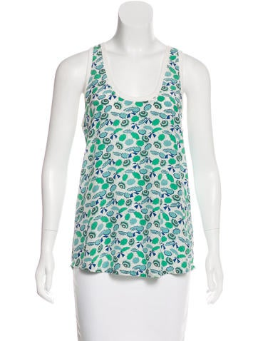 Joie Printed Silk Top None