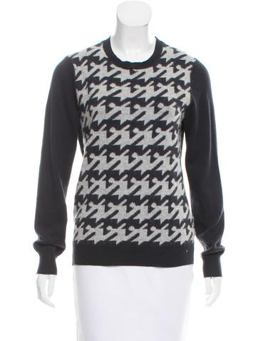 Joie Knit Houndstooth Sweater None