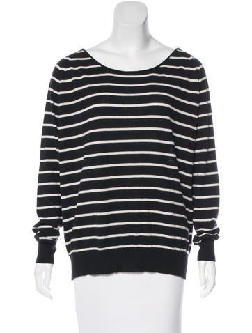Joie Striped Long Sleeve Sweater None