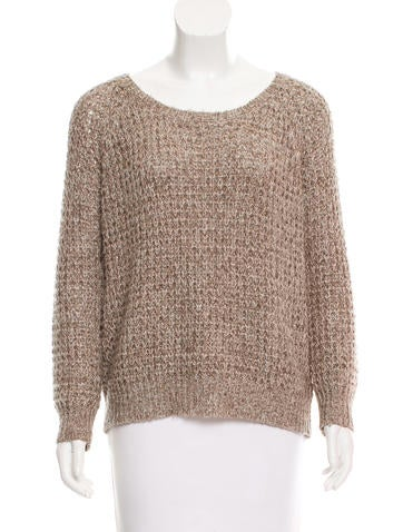 Joie Scoop Neck Long Sleeve Sweater None