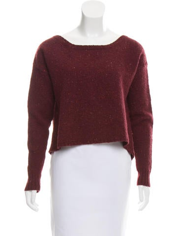 Joie Rib Knit Trimmed Wool Sweater None