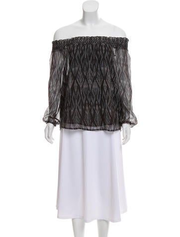 Joie Silk Off-The-Shoulder Top None